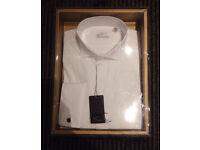 Wing collar men's dress shirt