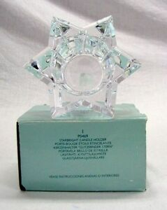PARTYLITE STARBRIGHT CRYSTAL CANDLE HOLDER
