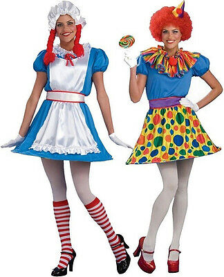 2-in-1 Rag Doll Clown Raggedy Ann Circus Fancy Dress Up Halloween Adult Costume