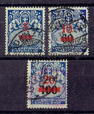 Danzig Porto o MiNr 40 - 42 Portomarken Wappen