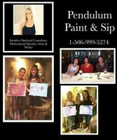HOST A PENDULUM PAINT, SIP AND INTUITIVE PARTY EXPERIENCE
