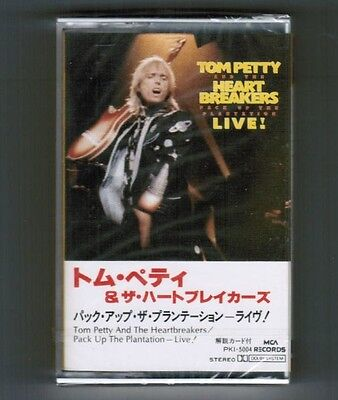 Sealed! TOM PETTY Pack Up The...Live JAPAN PROMO CASSETTE w/PS+Insert PKI-5004