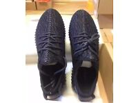 Black Yeezy 350 Boost with Box