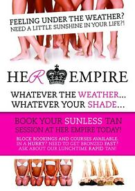 Book your Professional Spray Tan @ Her Empire Today!