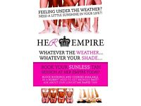 Out tonight and feeling off colour?! Book your Last Minute Rapid Tan @ Her Empire Today!