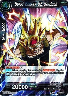 Burst Foil - Burst Energy SS Bardock - BT4-100 Holo Foil Card Dragon Ball Super CCG Mint