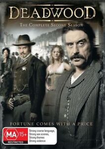 Deadwood-Season-2-DVD-2008-4-Disc-Set-Excellent-Condition-R4