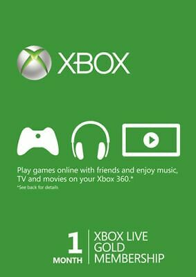 1 Month Xbox Live Gold Membership (EU/UK) - 24/7 Instant Delivery