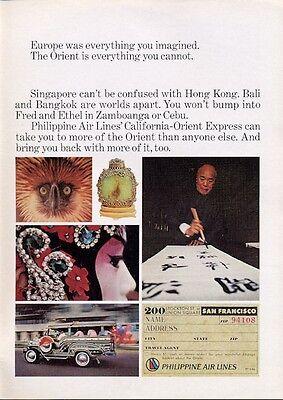 1969 Philippine Air Lines Print Ad Pal Various Scenes
