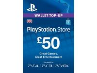 PlayStation PSN Card 50 GBP Wallet Top Up | PSN Download Code - UK account ! price stands !