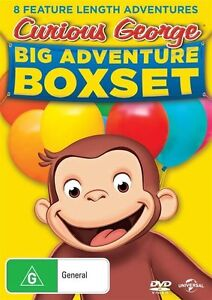 Curious George - Big Adventure (DVD, 2016, 8-Disc Set) (Region 4) Aussie Release