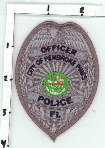 FLORIDA FL PEMBROKE PINES POLICE OFFICER NEW PATCH SHERIFF