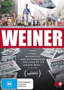 Weiner - Anthony Weiner NEW R4 DVD