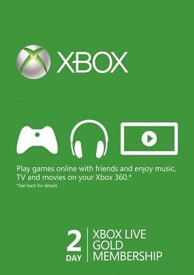 Xbox Live Gold Trial 48 Hour Membership Code, Xbox 360, 'INSTANT DELIVERY' for sale  Shipping to United States