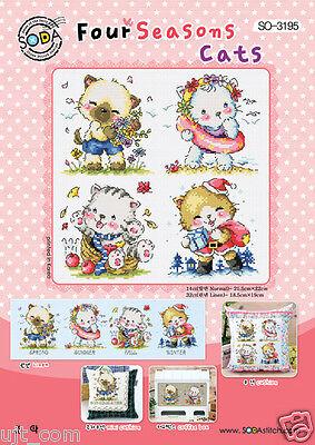 SODAstitch SO-G76 Cross stitch pattern book Ice cream Ladies Big Chart