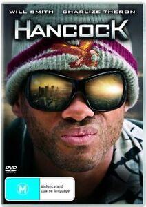HANCOCK DVD=WILL SMITH-CHARLIZE THERON=REGION 4 AUSTRALIAN RELEASE=NEW & SEALED
