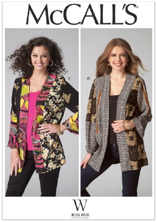 M7132 McCall's Sewing Pattern Misses 4-26 Scrappy Coat of Ma