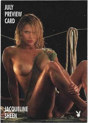 TC Playboy July 1996 Sports Time Promo Card 4PR Jacqueline Sheen