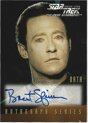 TC Star Trek The Next Generations Brent Spiner A3 Autograph Series
