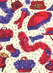 Red Hat Fabric Red Hot Mama Society - 100% QSQ Cotton ~ Sold by FQs