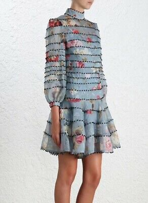 Zimmermann Wavelength Spliced Mini Dress SIZE3/UK8-10