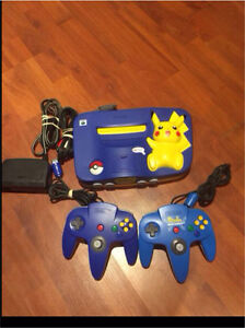 RARE!! N64 POKEMON SYSTEM with 2 controllers