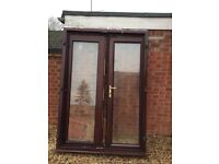 UPVC French Doors, internal locking only.