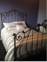 NEW Double Bed (headboard & footboard & bed frame & Mattress)