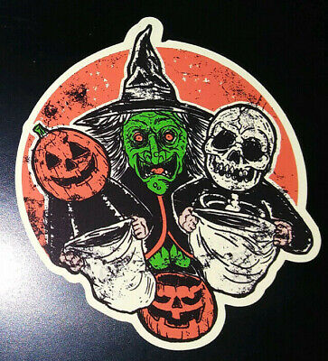 Three Witches Halloween Movie (STICKER- 3 Halloween Trick or Treaters HORROR movie III witch masks)
