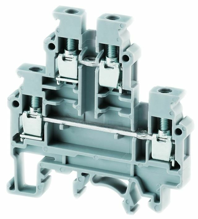 Pack of 3  CDL4UN/W  Terminal Block Screw Double-Lever 6 mm White 35 A/ 32 A, Ro