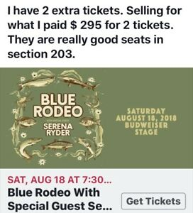 BLUE RODEO TICKETS!