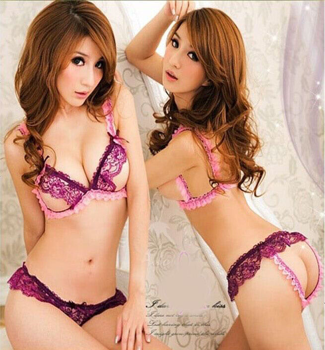 Women Ladies Sexy Lingerie Lace Baby Dolls G-String Thong Un