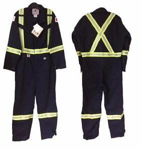"""Geliget Flame Resistant FR Coveralls with 2"""" Yellow and Silver Tape (BRAND NEW)"""