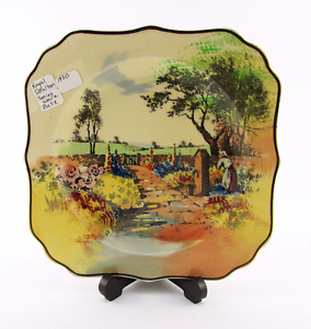 Vintage Royal Doulton Series Ware Plate Country Scene 1930