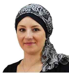 foulard p tula echarpe cheche bonnet chimio perte cheveux soierie de lyon ebay. Black Bedroom Furniture Sets. Home Design Ideas