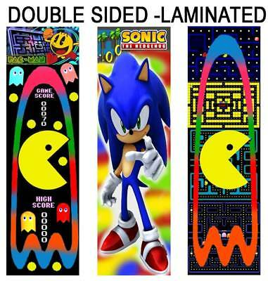 PACMAN / SONIC The HEDGEHOG FUN BOOKMARKS Party Favors Game Book Marks for - Pacman For Kids