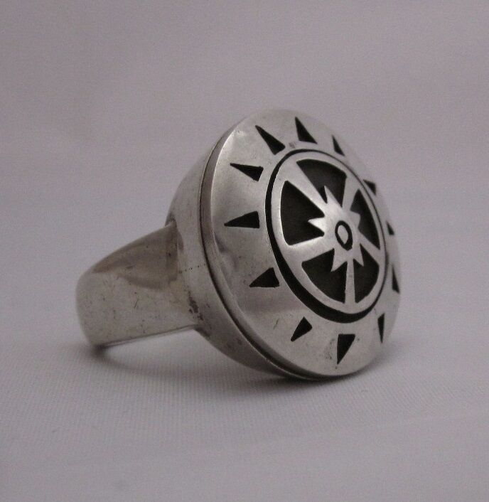 METAPHYSICAL STERLING SILVER RING sz 8.5, PARANORMAL, PSYCHIC, MYSTICAL