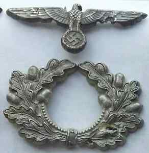 German WWII Emblems from officers hat found by metal detecting
