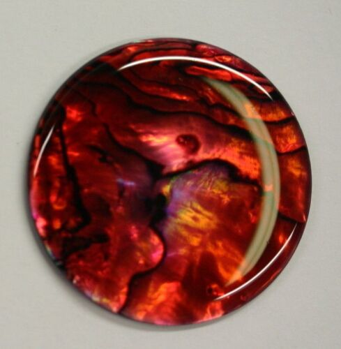 Red Paua Shell Round High Quality Cabochon Calibrated 16m 18mm 20m 25mm 38mm Gem