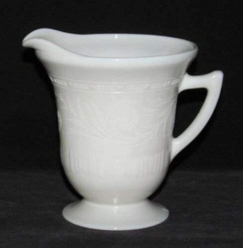 MacBeth Evans Glass Co. CHINEX CLASSIC Ivory Footed Creamer