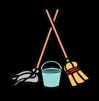 Two Ladies and A Broom & Mop  !!