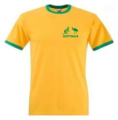 Australia Australian Supporters Ashes Yellow Cricket Sport T-Shirt - All Sizes