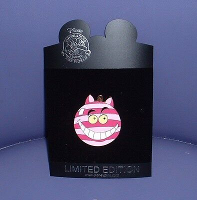 DISNEY ALICE IN WONDERLAND'S CHESHIRE CAT LE HOLIDAY ORNAMENT SERIES PIN ^..^NOC