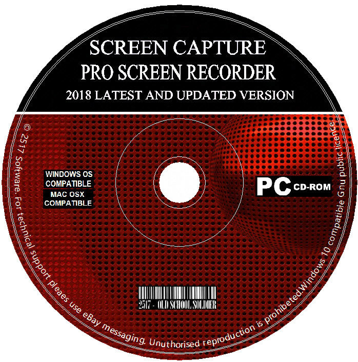 Screen Capture Recorder 2018 Record Your Desktop + Video Editor Converter PC MAC