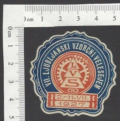 Yugoslavia 1927 Sample Fair die cut poster stamp MH