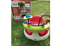 Mamas & papas baby snug seat with play tray