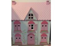 ELC wooden dolls house with accessories