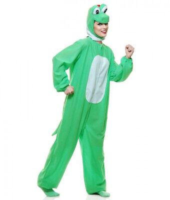 Yoshi Adult Costume Super Mario Bros Yoshimoto Green Dinosaur Gamer Cosplay](Adult Yoshi Costume)