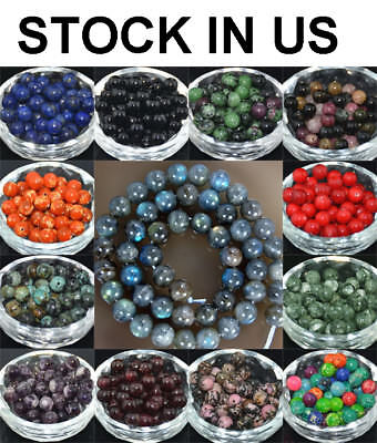 Wholesale Lot Natural Stone Gemstone Round Spacer Loose Beads 4MM 6MM 8MM 10MM](Multi Color Beads)
