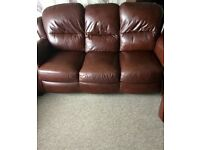 Brown Leather Suite *Re-listed 2nd time*